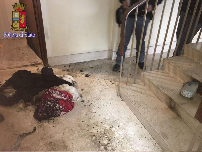In trasferta da Cagliari, da fuoco alla porta di casa della ex. Arrestato 62enne