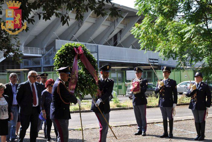 36esimo anniversario dell'eccidio di via Dorando Pietri, la Questura commemora Sammarco e Carretta